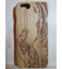 Natural Real 100% Bamboo Wooden Modern Art Back case Cover for Apple Iphone 5c